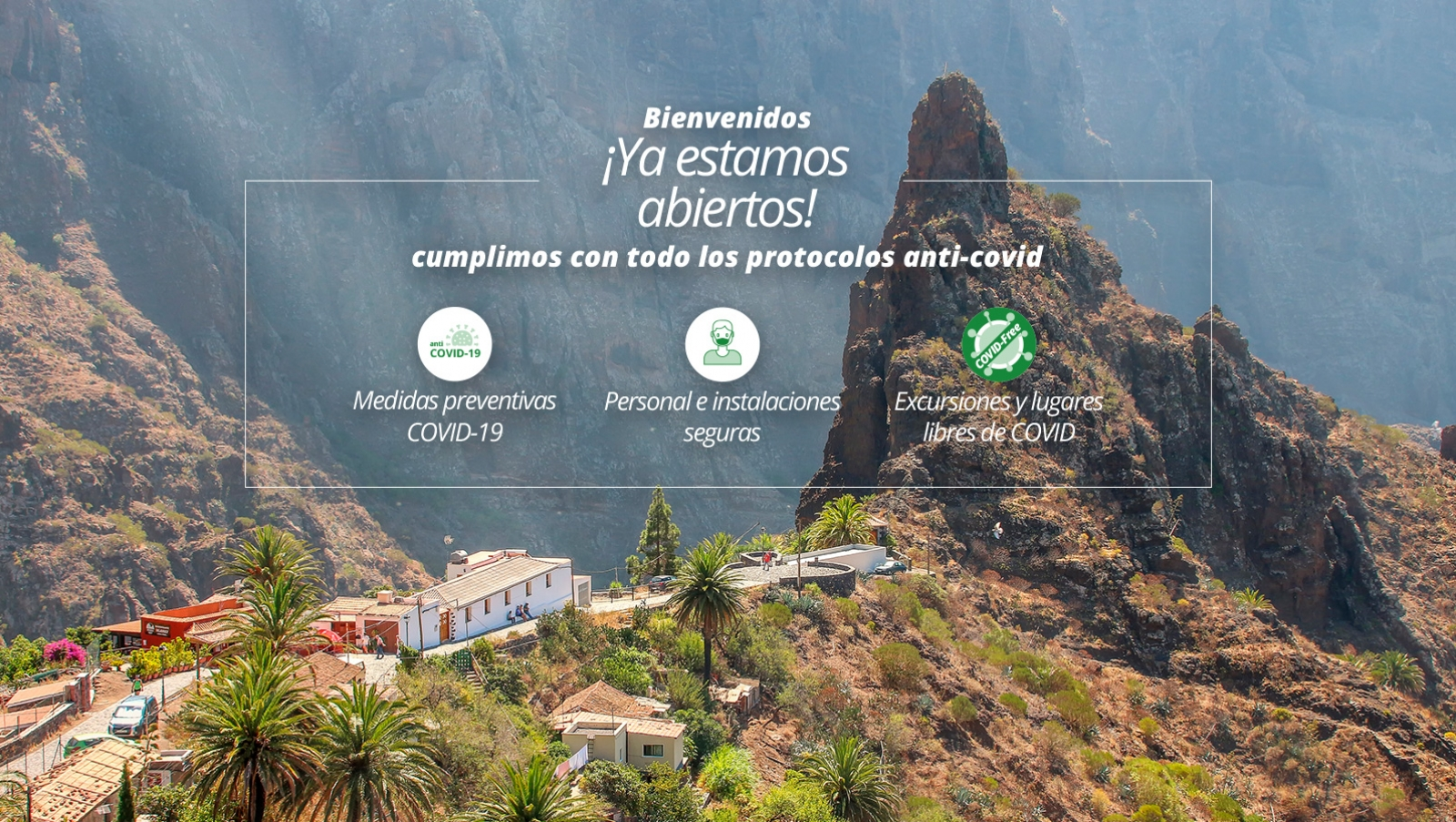 Slide de bienvenida a la web de Viajes Teide